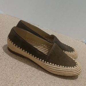 MK Olive Suede Woven flats